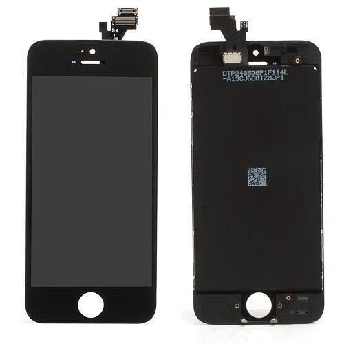 apple-iphone-5-komplet-glaslcd-grade-a-sort-iphone-5-reservedele-skaerme-mobil