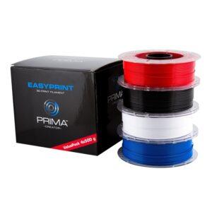PrimaCreator EasyPrint PLA Value Pack Standard Sort Hvid Blå Rød 7340002114200