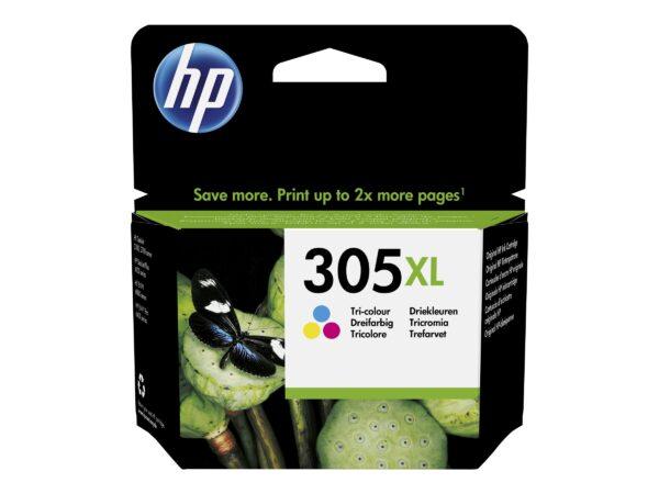 HP 305XL Farve (cyan, magenta, gul) 200 sider EAN 0193905429318