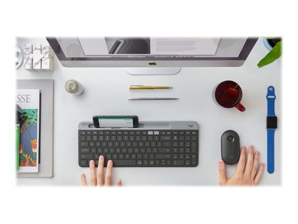 Logitech Slim Multi-Device K580 Tastatur Trådløs Pan Nordic EAN 5099206086685