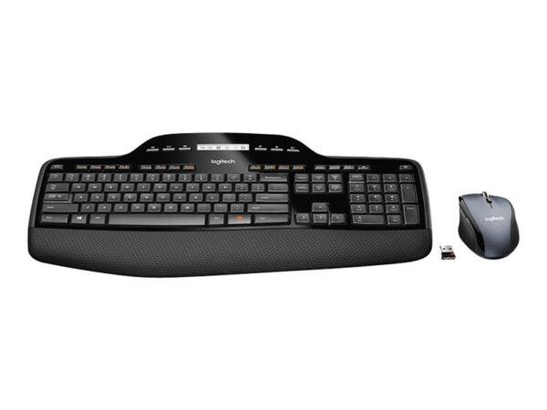 Logitech Wireless Desktop MK710 Tastatur og mus-sæt Trådløs Nordisk EAN 5099206021167